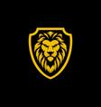 lion shield logo design vector image vector image