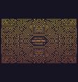 luxury antique art deco geometric linear vector image vector image