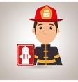 man fire hydrant icon vector image