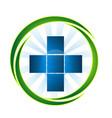 medical emergency pharmacy cross icon vector image vector image