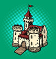medieval castle fairy kingdom real estate vector image