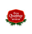 merry christmas and happy new year vintage sign vector image