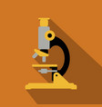 microscope icon flat icon with long shadow vector image vector image