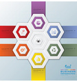 Modern Hexagon Business Infographic vector image vector image