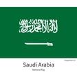 National flag of Saudi Arabia with correct vector image