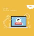 online flat-line training vector image vector image