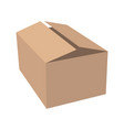 paper box flat style front vector image vector image