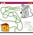 path or maze cartoon game vector image vector image