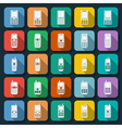 Phones icons collection vector image