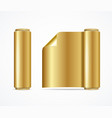 realistic 3d detailed shiny gold foil roll vector image vector image