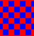 red blue checkered seamless repeating pattern vector image vector image