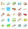 repairing icons set cartoon style vector image vector image