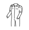 safety wear pack icon doodle hand drawn vector image