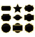 set of black labels vector image vector image