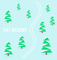 ski resort with downhill skiing vector image