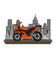 sport racing motorcycle vector image vector image