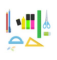 stationery supplies for office vector image