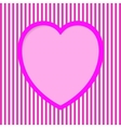 Striped Valentine Card vector image vector image