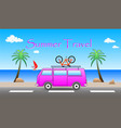 summer travel vector image vector image
