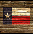 texas tx state flag on rustic old wood wall vector image vector image