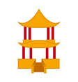 traditional asian building icon vector image