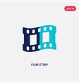 two color film strip icon from electronic stuff vector image