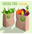 Vegetables in bags emblem vector image vector image
