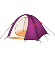 Violet tent vector image vector image