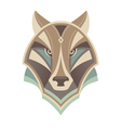 Wolf head abstract design vector image vector image