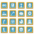 zombie icons azure vector image vector image