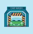 automatic car wash car wash foam water vector image