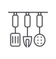 kitchenware kitchen accessories line icon vector image