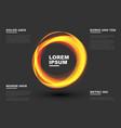 abstract orange circles vector image