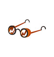 antique glasses steampunk design element vector image vector image
