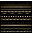 art deco template golden-black set of frames for vector image vector image