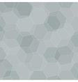 Background with grey honeycombs vector image vector image