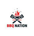 bbq cooker logo design vector image