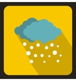 Blue clouds and white snow icon flat style vector image vector image