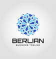 blue diamond logo template vector image