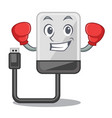 boxing hard drive in shape of mascot vector image vector image