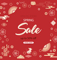 bright sales banner with chinese elements for 2020 vector image vector image
