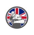 british arborist union jack flag icon vector image vector image