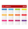 Calendar 2014 Turkey Type 10