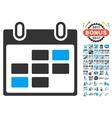 Calendar Days Icon With 2017 Year Bonus Pictograms vector image vector image