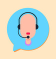 callcenter man support online operator with vector image
