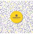 carnival festive colorful confetti on white vector image