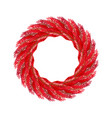 christmas wreath red isolated fir branch circlet vector image vector image