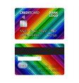 colored credit card vector image