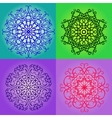 Colorful round pattern set vector image vector image