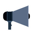 colorful silhouette of megaphone icon vector image